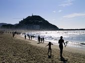 pic of basque country  - La Zurriola Beach in Donostia  - JPG