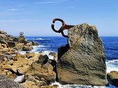 Famous Sculpture In San Sebastian, Spain