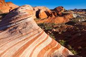 picture of valley fire  - The Wave in Valley of Fire State Park Nevada - JPG