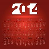 image of august calendar  - 2014 Calendar design  - JPG