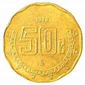50 Mexican Peso Cents Coin