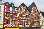 picture of gabled dormer window  - Traditional German half - JPG