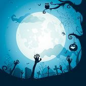 pic of graveyard  - Halloween illustration  - JPG