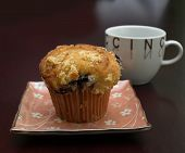 Blueberry Muffin en koffie