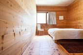 stock photo of chalet interior  - interior new chalet - JPG