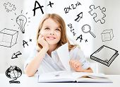 image of pre-teen  - education and school concept  - JPG