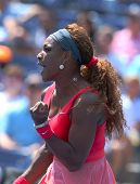 Sixteen times Grand Slam champion Serena Williams during his second round match at US Open 2013
