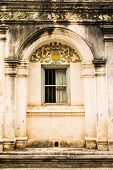 stock photo of handicrafts  - Shan Style Temple Old Windows In Wat Papoa  - JPG