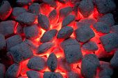 stock photo of briquette  - hot - JPG