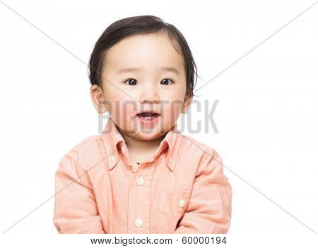 Asian baby boy smile