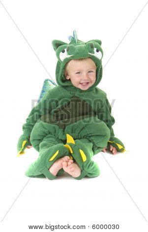 Trick Or Treating Adorable Toddler wearing costume