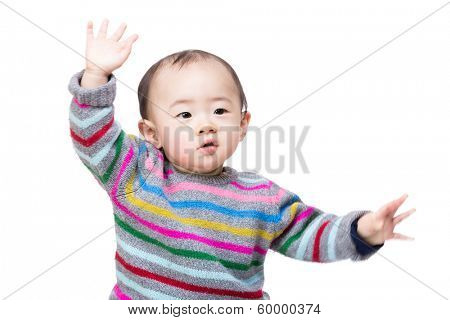 Asian baby boy dance