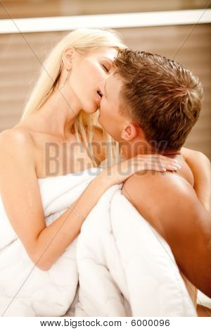 Sexual Mid Adult Couple