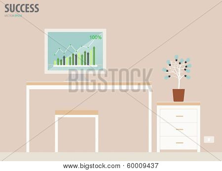 Workstation. Vector Illustration.
