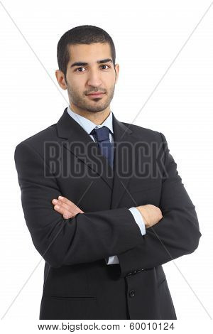 Arab Business Confident Man Posing With Folded Arms