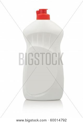 plastic bottle Mockup, cleaning agent or washing cleaner. Packaging collection
