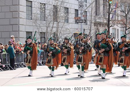 NEW YORK, NY USA - MARCH 17: Saint Patricks Day Parade on March 17, 2012 in New York City