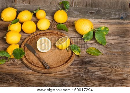 Lemons With  Leaves