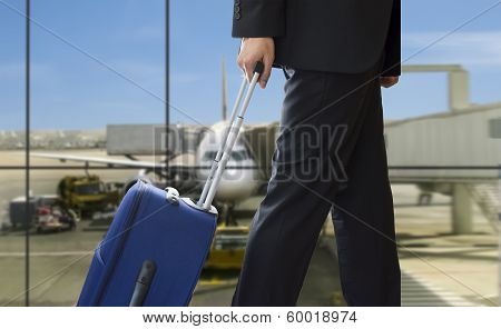 Man Walking Travel Bag