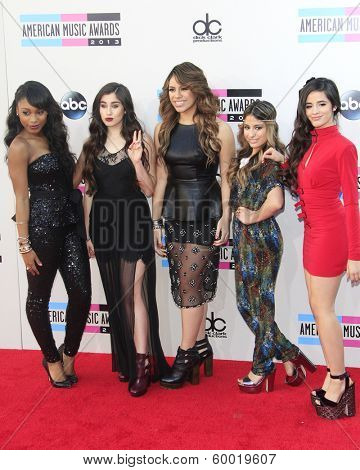 LOS ANGELES - NOV 24: Fifth Harmony at the 2013 American Music Awards at Nokia Theater L.A. Live on November 24, 2013 in Los Angeles, California
