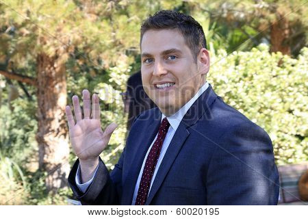 PALM SPRINGS, CA - JAN 5: Jonah Hill at the 10 Directors to Watch brunch at The Parker Hotel on January 5, 2014 in Palm Springs, California