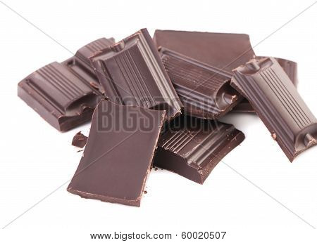 Chocolate bars broken.