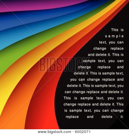 Rainbow card vector