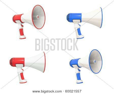 Megaphone Collection Red And Blue