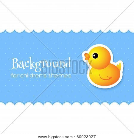 Abstract Background with Duck