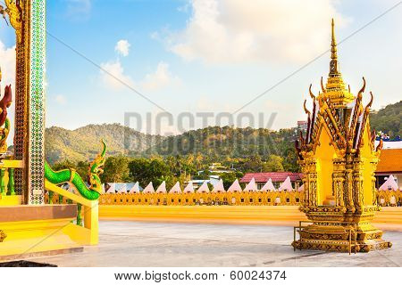 Buddhist pagoda Thailand view in forest