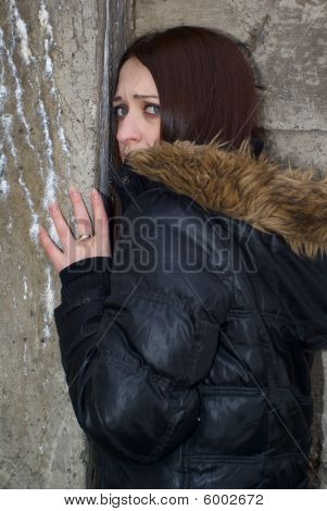 Scared Young Woman