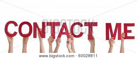 Hands Holding Contact Me