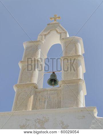 church steeple Mykonos island Greece