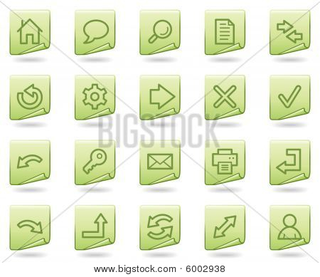Basic web icons, green document series