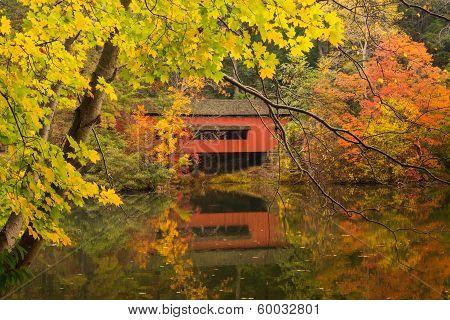 Lake Loretta and Covered Bridge