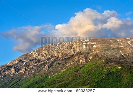 a beautiful view of the macedonian mountain