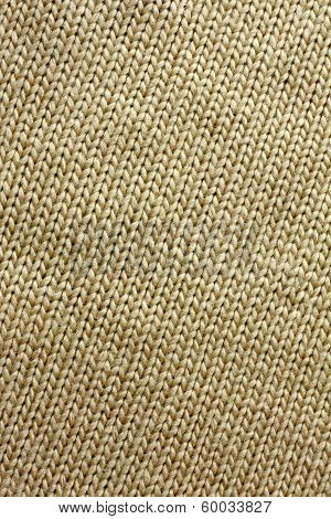 Tan Knitted Tweed Fabric Background