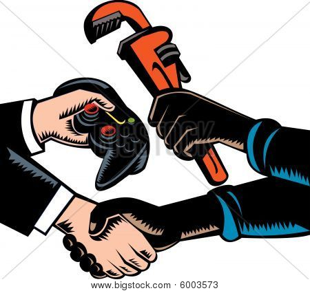 Hand exchanging or swapping goods and services