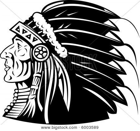 Native American Indian chief cheyenne Headdress