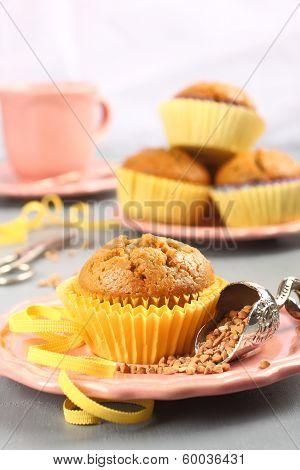 Homemade Gluten Free Muffins From Buckwheat Flour