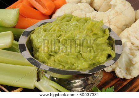 Veggies And Guacamole Dip
