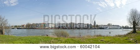 Panoramic View Of The City Zutphen, The Netherlands