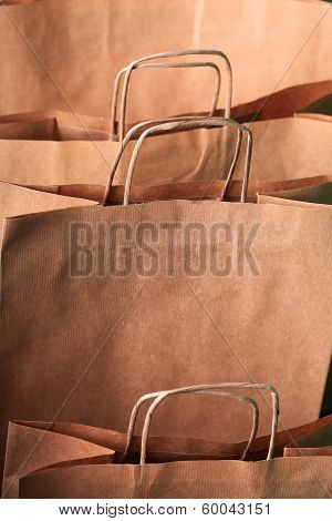 Closeup of recycling Shopping Paper Bags
