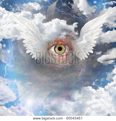 Winged Eye Elements of this image furnished by NASA