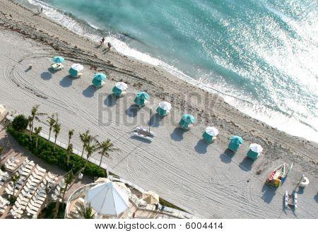 Aerial beach scene