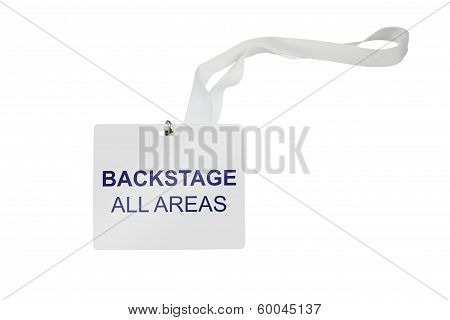 Backstage All Areas Pass