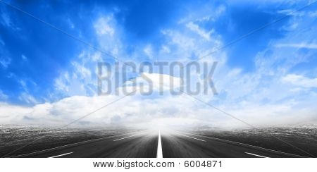 route and sky