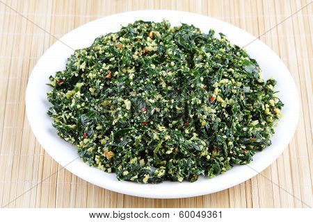 Curry dish made of Moringa leaf.