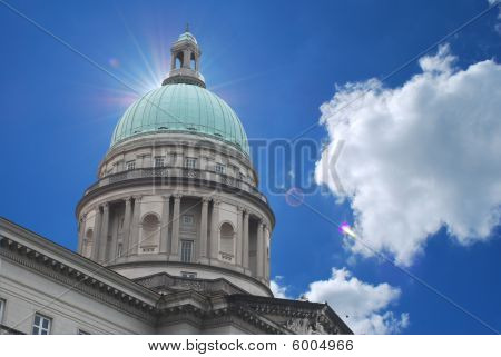 Supreme Court With Bright Sky Background