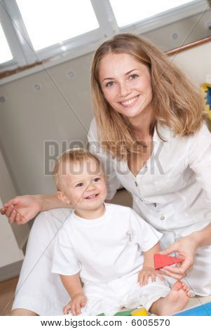 Young Mother And Her Son